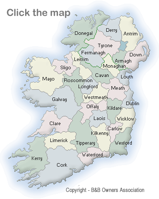 Map Of Ireland Ireland.Map Of Irish B Bs By County Ireland Bed And Breakfast